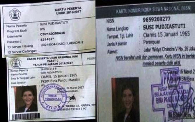 Menteri Susi Pudjiastuti Ternyata Juga Ikut Pelaksanaan Ujian Paket C