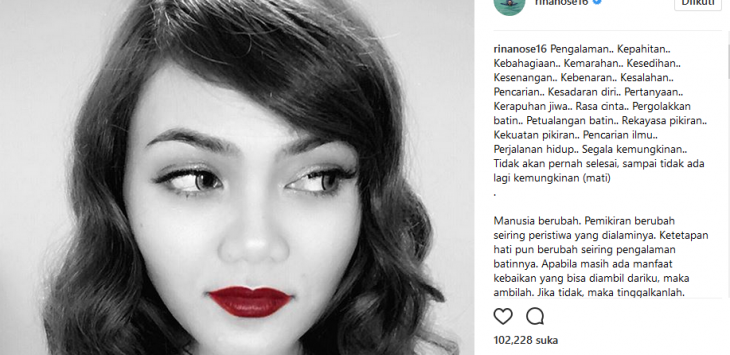 Kecewa Rina Nose Lepas Hijab, Komentar Dukungan Uus Bikin Fans Emosi