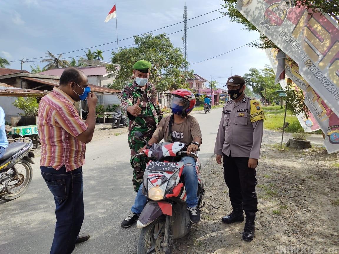 Polsek Tanjung Beringin Gencar Imbau Masyarakat Taati Prokes dan AKB