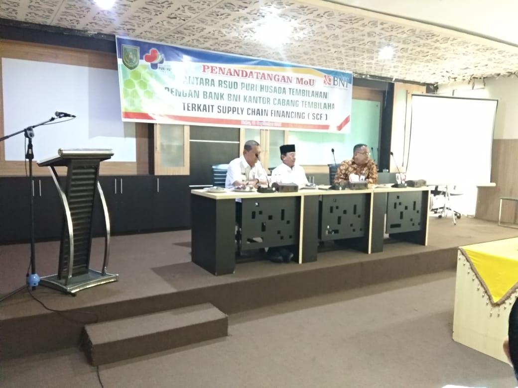 Teken MoU, Bank BNI Talangi Tunggakan BPJS di RSUD Puri Husada Tembilahan