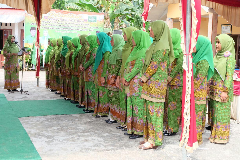 Zulaikhah Lantik Pengurus PAC Muslimat NU Kecamatan Kempas