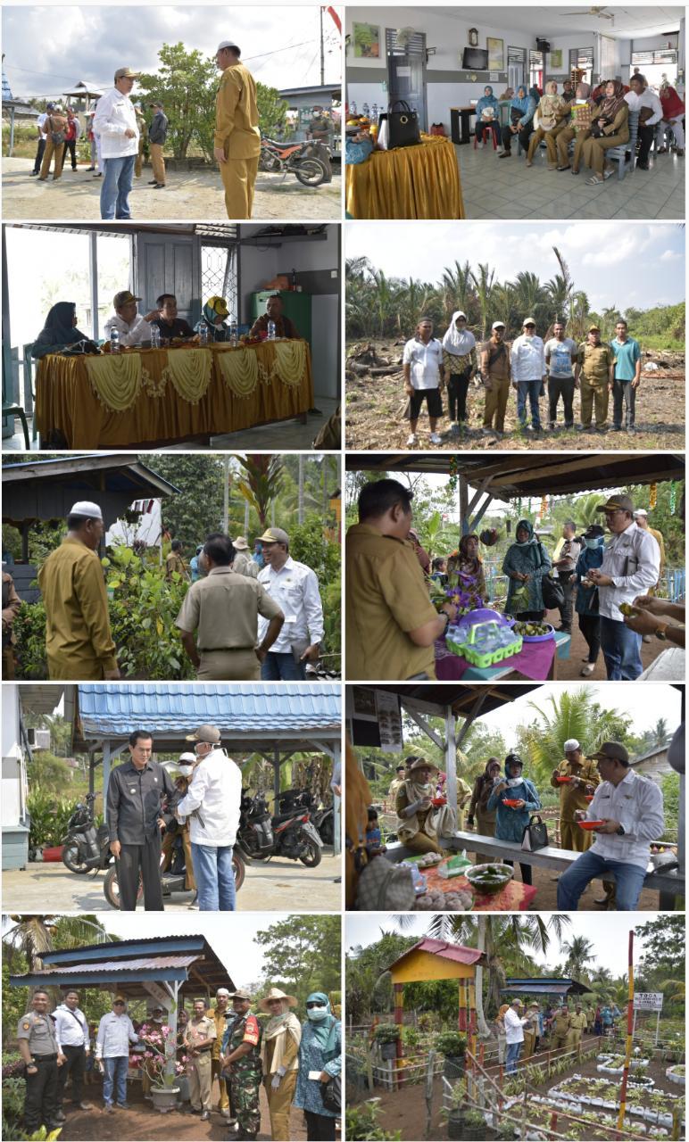 Kunjungi Toga Desa Intan Mulya Jaya, Kadiskes Inhil Targetkan Juara Nasional