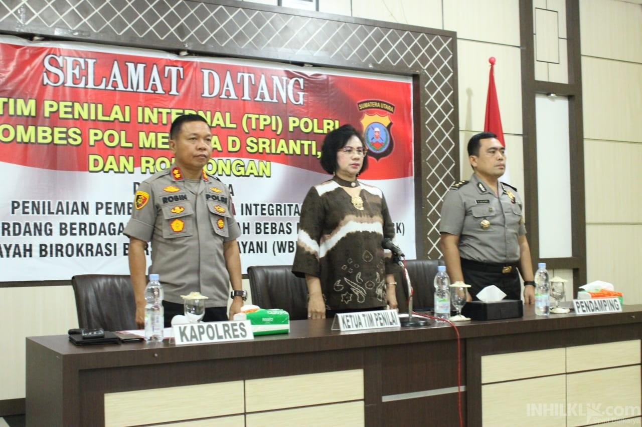 Polres Sergai Terima Tim Penilai Internal (TPI) Mabes Polri menujuWBK & WBBM
