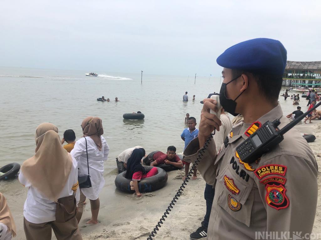 Amankan Wilayah Perairan,Sat Pol Air Polres Sergai Patroli di Sejumlah Lokasi Wisata Pantai