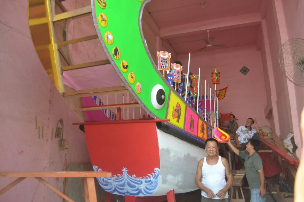 Pengerjaan Replika Kapal Tongkang di Rohil sudah 90 Persen