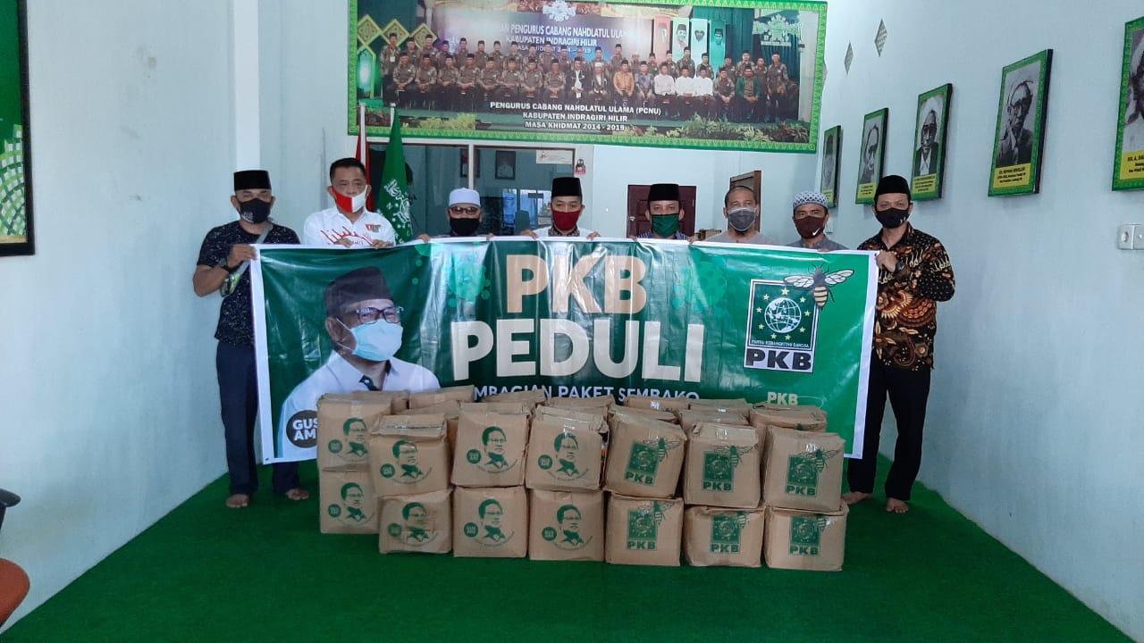 PKB Inhil Salurkan Paket Sembako dari Gus Ami