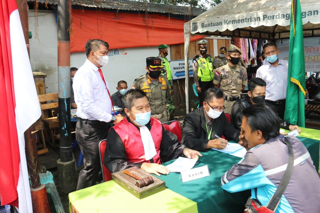 Pelanggar Prokes di Tembilahan Disidang di Tempat, Hari 6 Orang Dinyatakan Bersalah