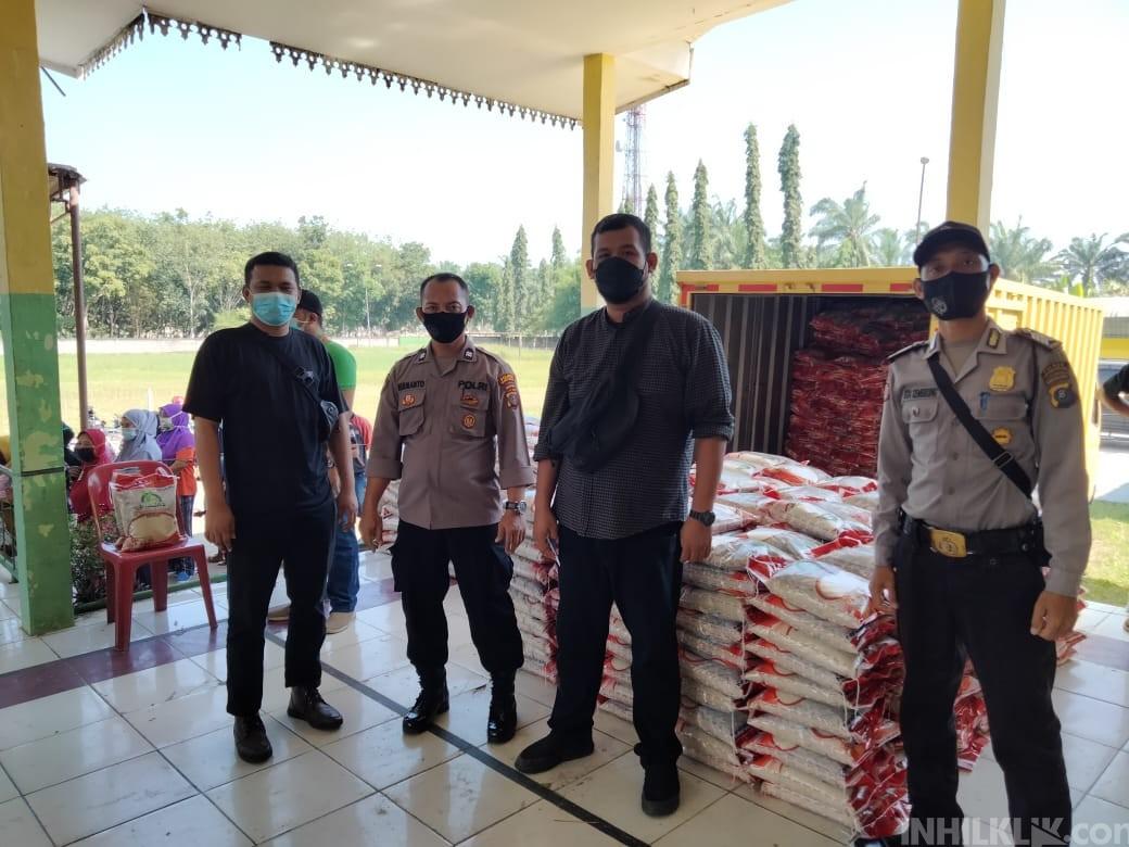 Polres Sergai Kawal Penyaluran Bantuan Masyarakat Terdampak Covid-19