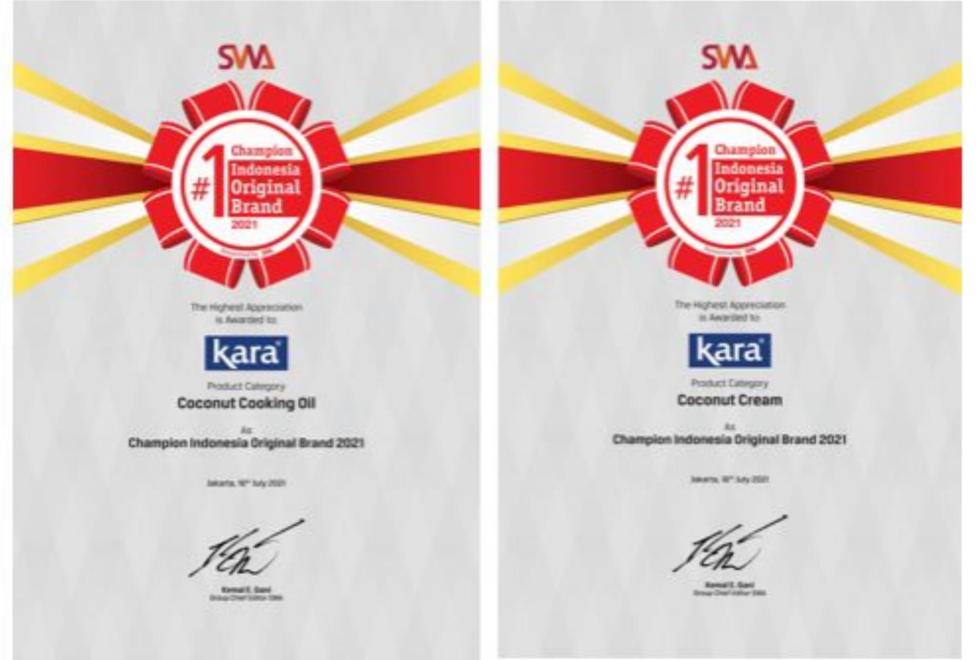 KARA Kembali Raih Penghargaan Indonesia Original Brand 2021