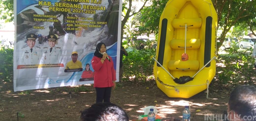 Dewi Yanthi Purba Dilantik Sebagai Ketua FAJI Sergai Periode 2021-2025