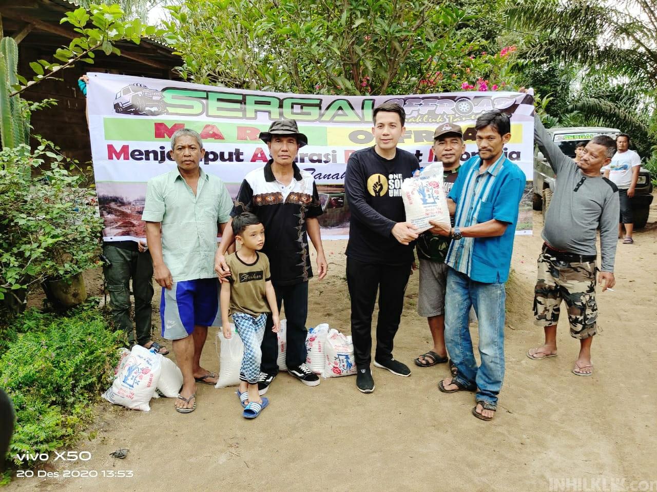 Off Road di Kotarih, Ketua DPRD Sergai Berikan Bantuan Kepada Warga Kurang Mampu