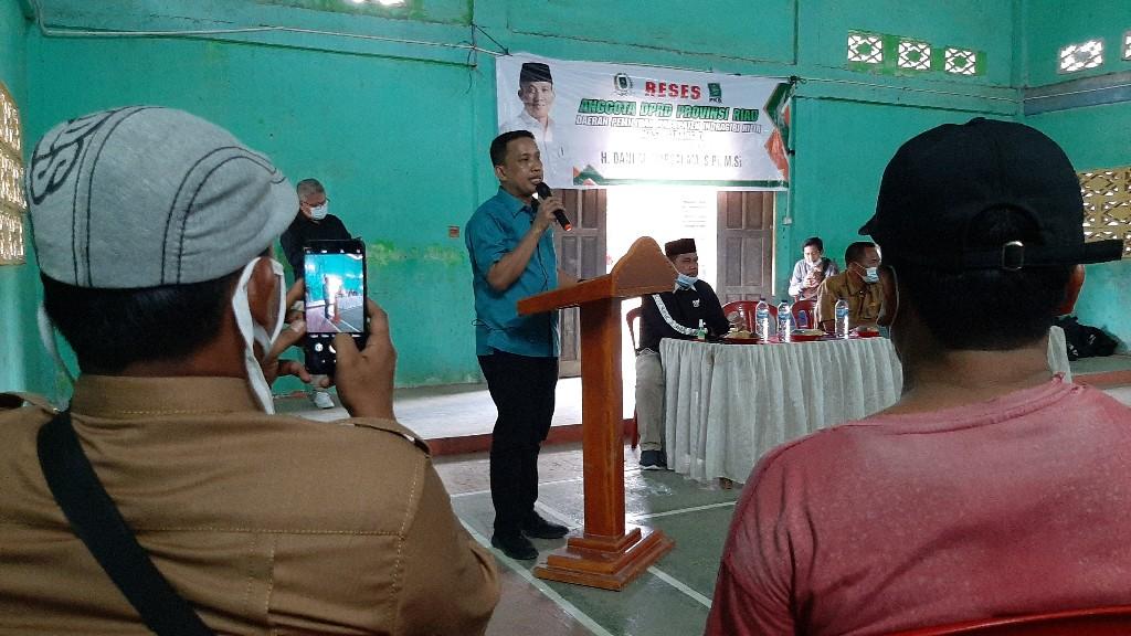 Dani M Nursalam Dorong F-PKB DPRD Inhil Gesa Pemekaran Desa Keritang Hulu