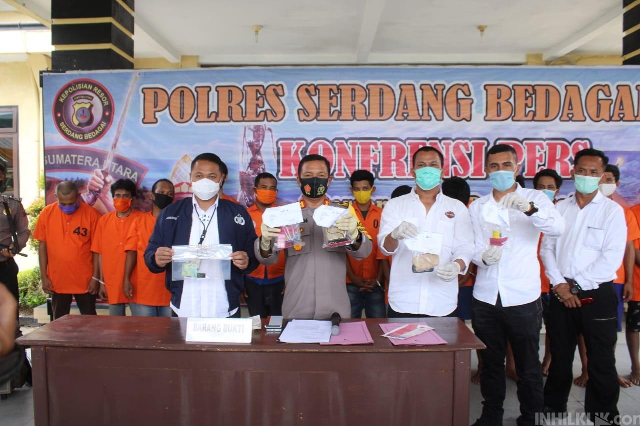 Bravo, Polres Serdang Bedagai  Berhasil Ungkap 12 Kasus Narkoba dan 1 Kasus Judi