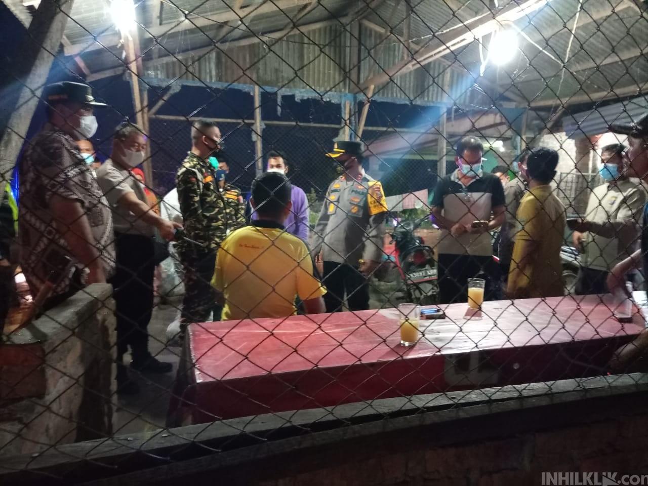 Kapolres Sergai Pimpin Razia PPKM di  Warung Tuak
