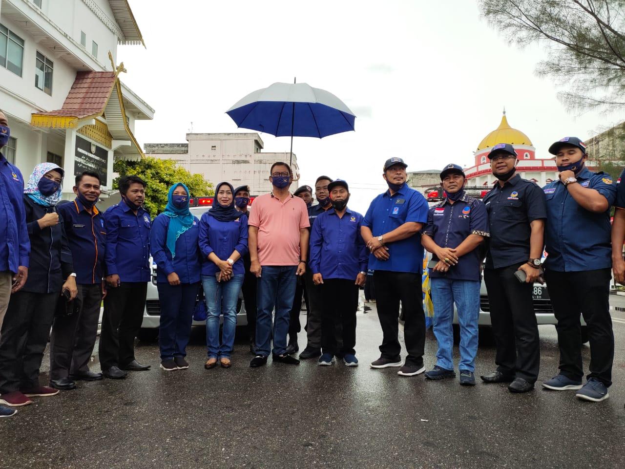 DPD Nasdem Rohil Louncing Enam Unit Mobil Ambulan Siaga