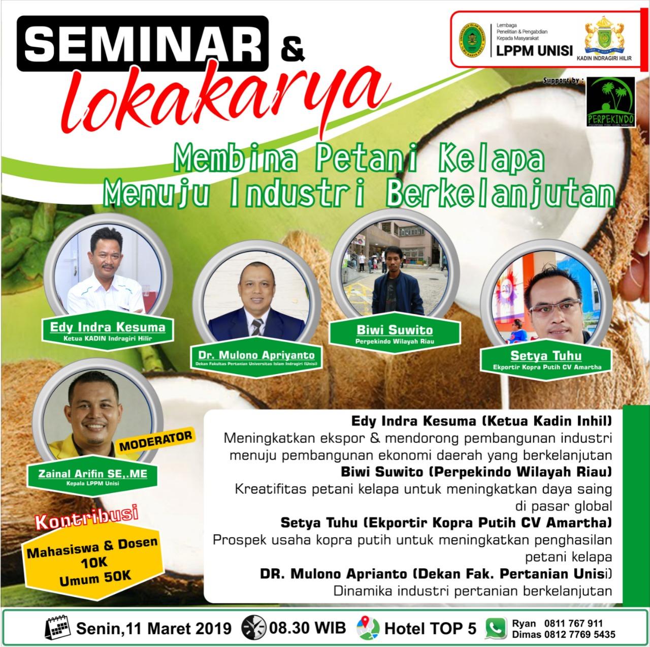 Peduli Petani Kepala, Kadin dan LPPM UNISI akan Gelar Seminar dan Lokakarya