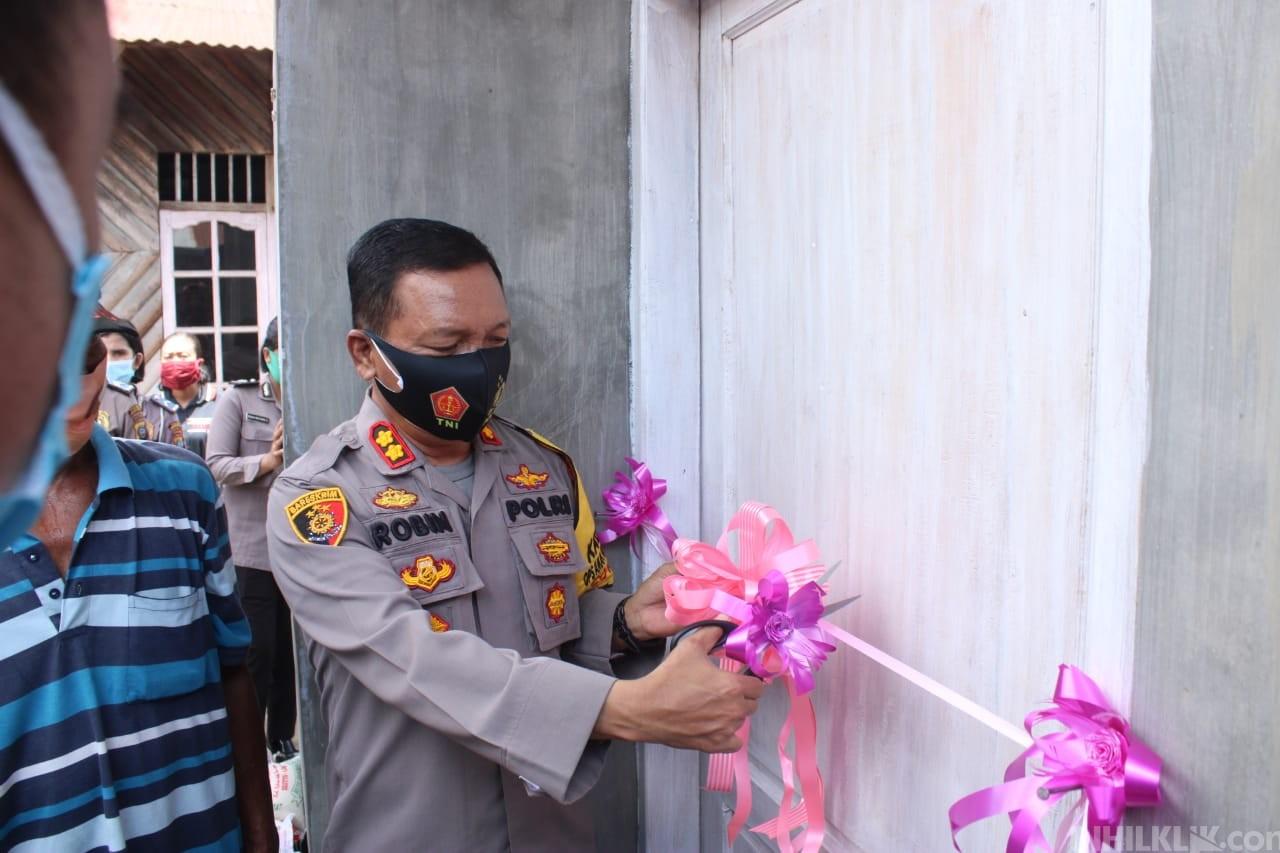 Kapolres AKBP Robin Simatupang Resmikan 2 Unit Bedah Rumah Warga Terkena Bencana Puting Beliung