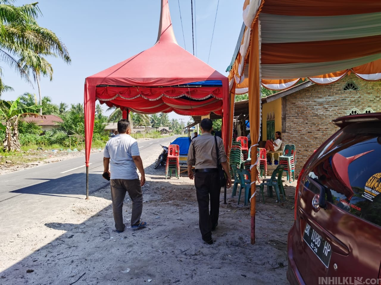 Tim Serigala Polsek Teluk Mengkudu Respon Cepat Pelanggaran Prokes saat PPKM Mikro