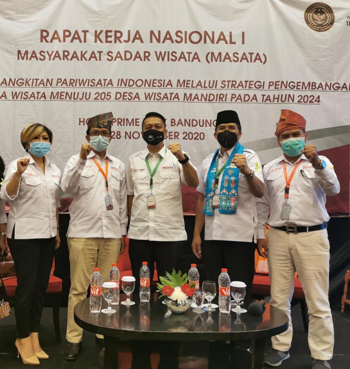 Dibuka Mentri, MASATA Riau Hadiri Rakernas I di Bandung