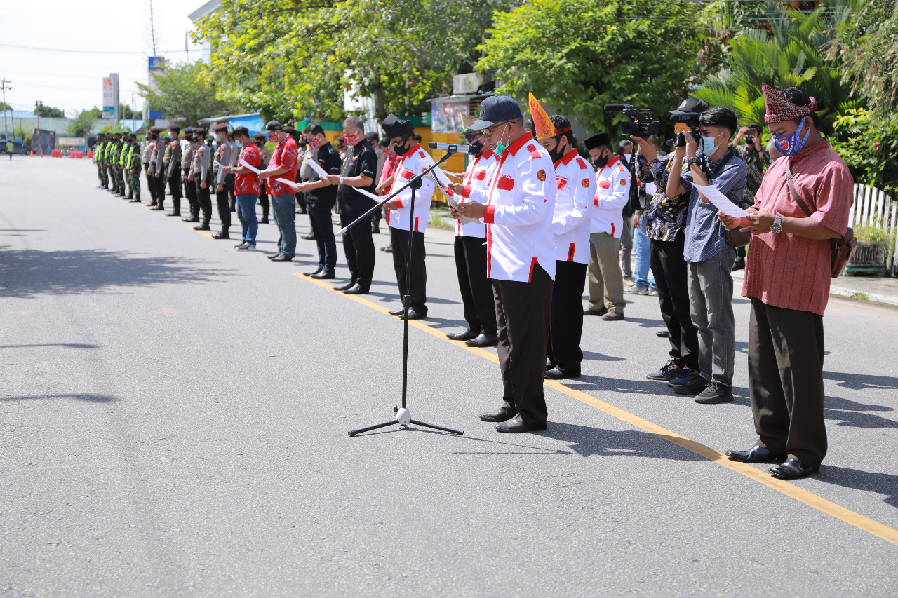Warga Tionghoa Inhil Dukung Deklarasi Cinta Damai dan Gaklin Prokes Covid-19