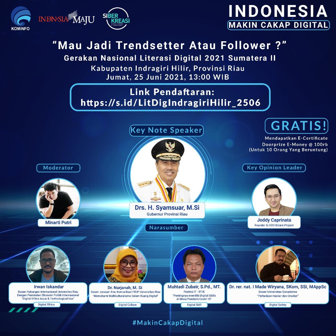 Kominfo Lakukan Literasi Digital di Kabupaten Indragiri Hilir, Provinsi Riau