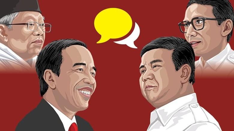 Jokowi Ungguli Prabowo dengan Selisih 16,9 Juta Suara