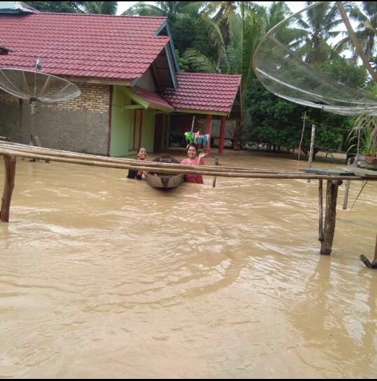 Diguyur Hujan, 5 Desa di Inhu Terendam Banjir