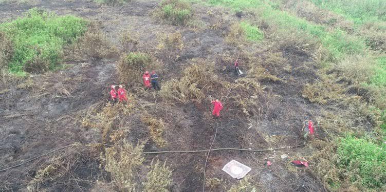 Satgas Gabungan Berhasil Padamkan Lima Hektar Lahan Terbakar di Kuala Cenaku