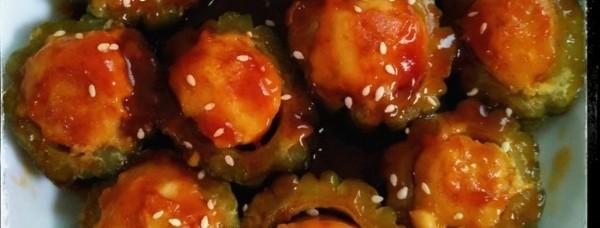 Menu Makan Siang: Pare Isi Ayam Saus Tiram Pedas