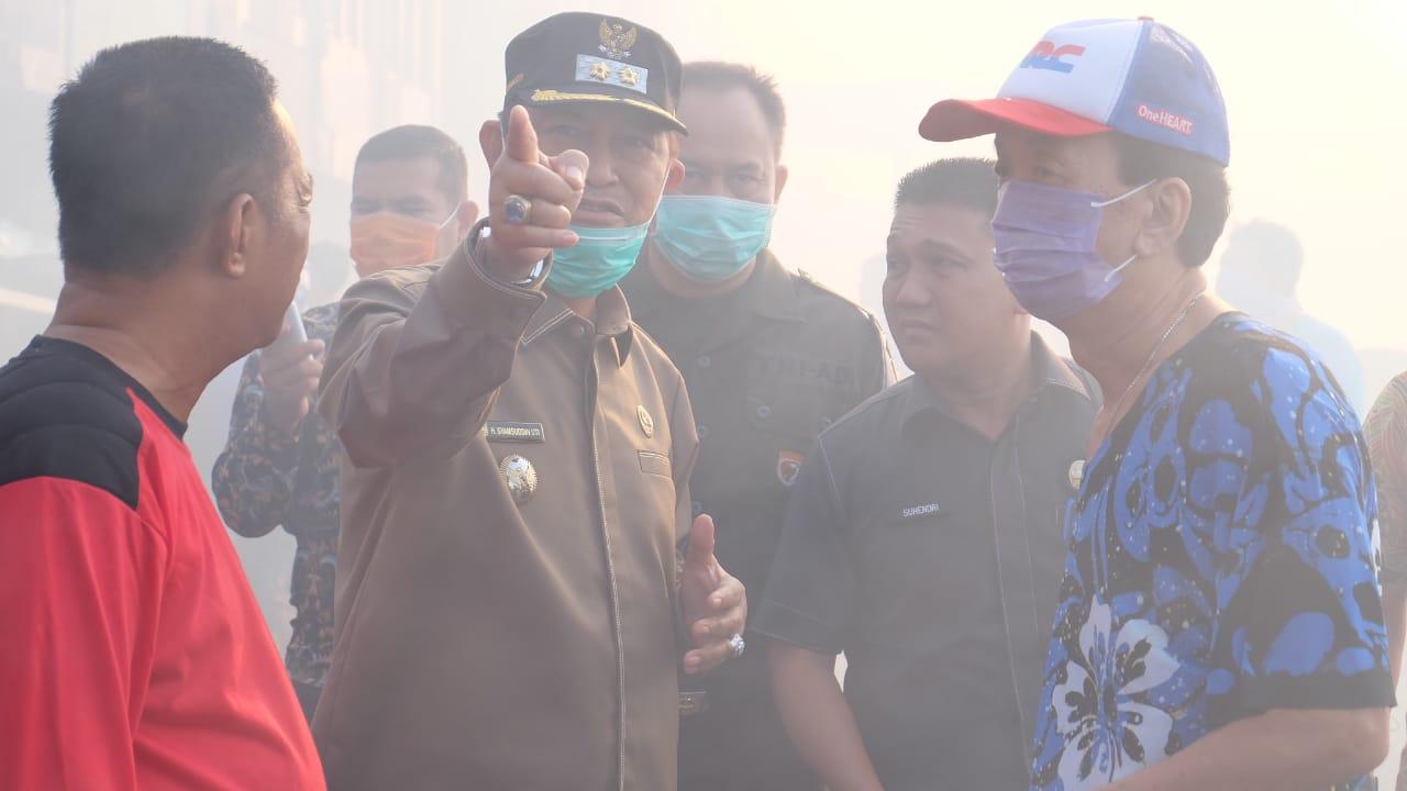 Pasca Kebakaran Pasar Terapung, Wabup Inhil Segera Lakukan Rapat