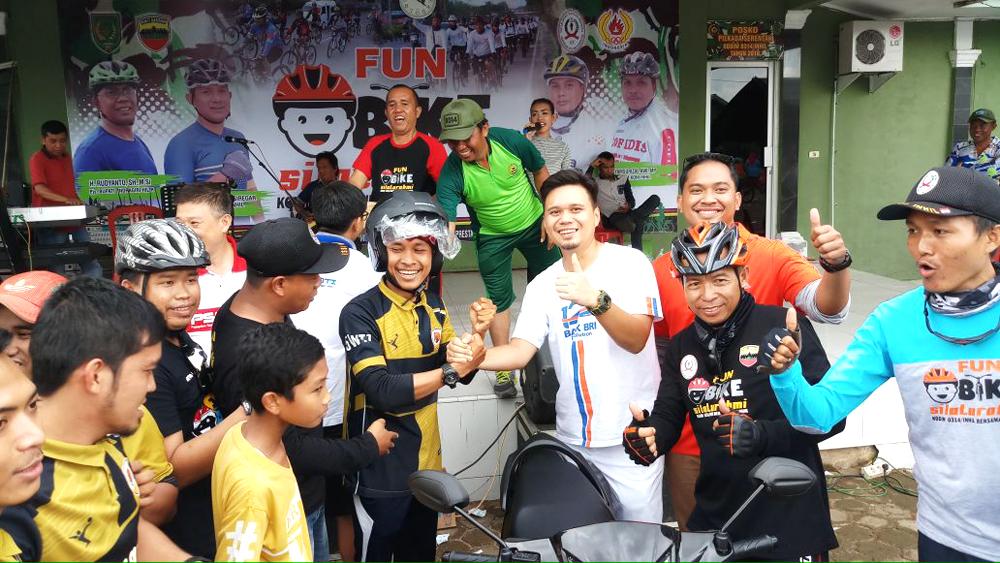 Ikut Fun Bike Kodim dan ISSI Inhil, Tomy Bawak Pulang Hadiah Sepeda Motor