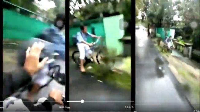 Dorong Seorang Bocah Pesepeda, Remaja ini Minta Maaf, Apa Klarifikasinya?
