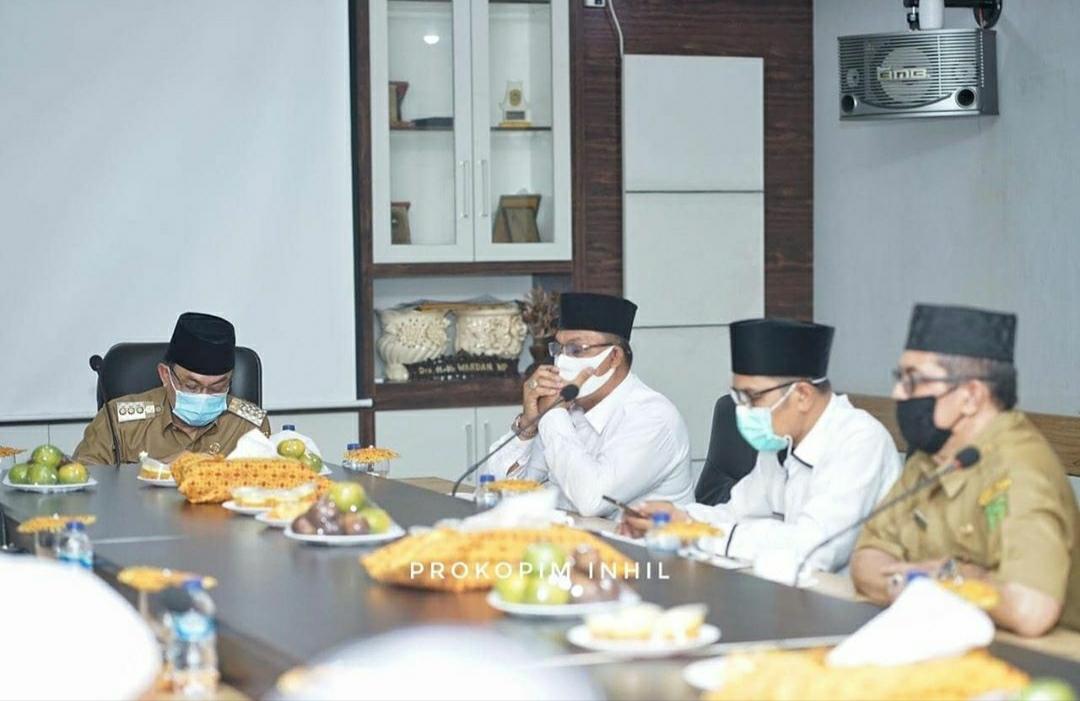 Bupati HM Wardan Sambut Kunjungan Pimpinan Pondok Pesantren di Inhil