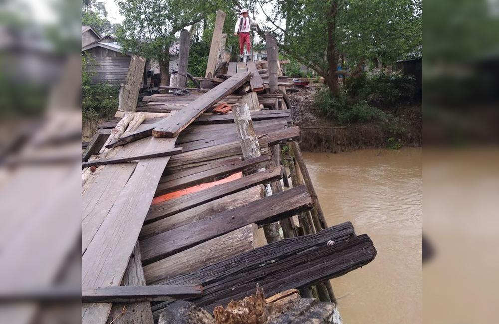 Jembatan Lapuk di Inhil Sudah Dibangun Menggunakan Kontruksi Beton