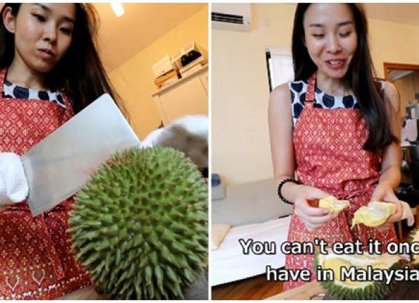 Gadis Jepang ini Kecanduan Durian Usai Mengunjungi Malaysia untuk Liburan