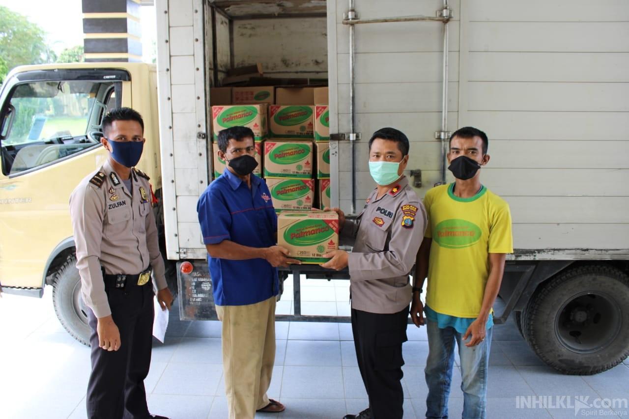 Peduli Masyarakat Terdampak Covid-19, Polres Sergai Terima 2000 Liter Minyak Goreng