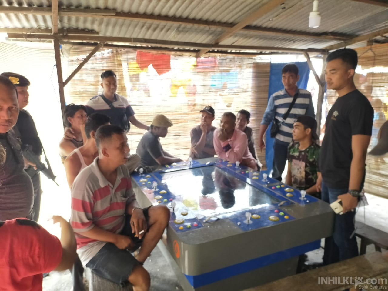 Tim Gabungan Polres Sergai Sikat Judi Tembak Ikan di Sei Bamban