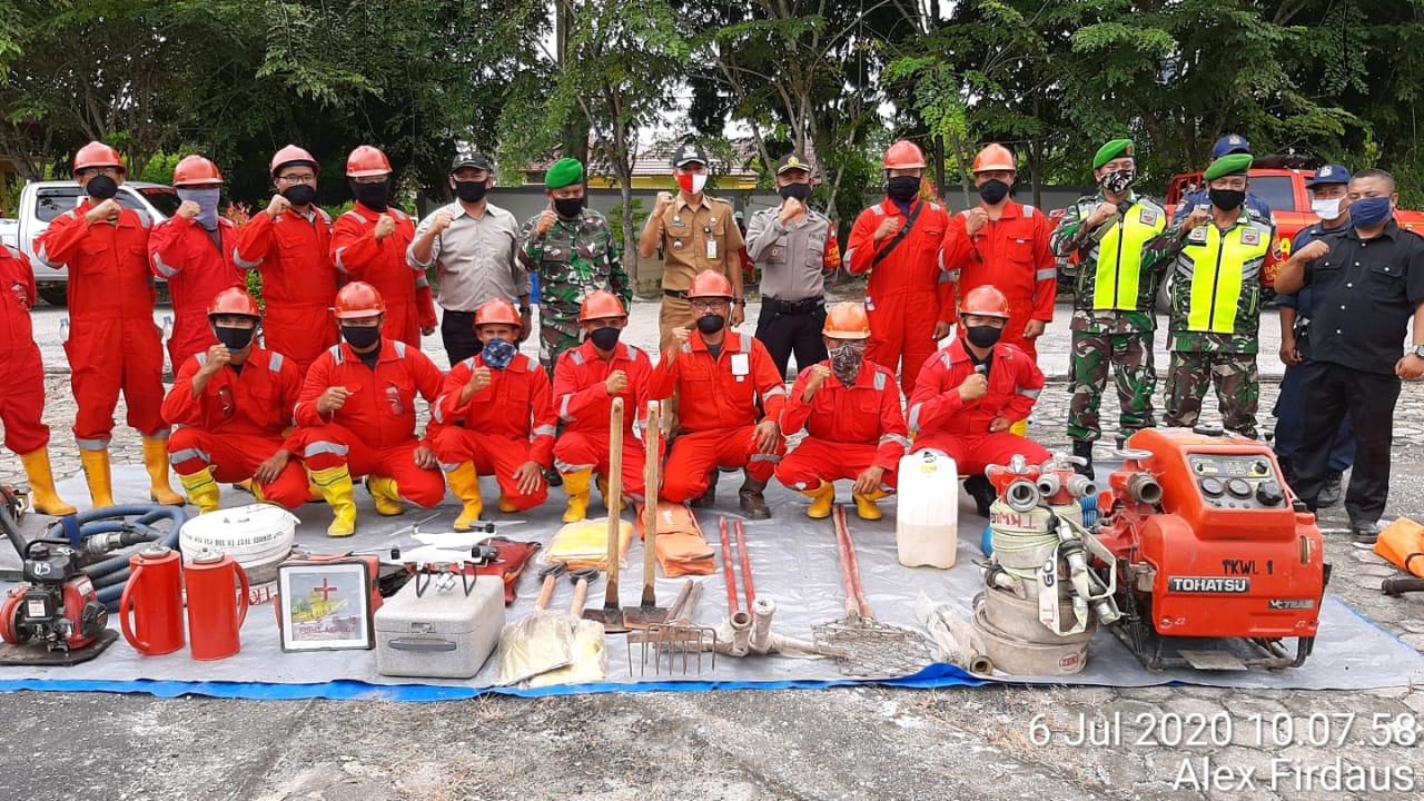 Antisipasi Karhutla, TNI, Polri dan Upika Kecamatan Siak Mulai Gelar Apel Kesiapsiagaan