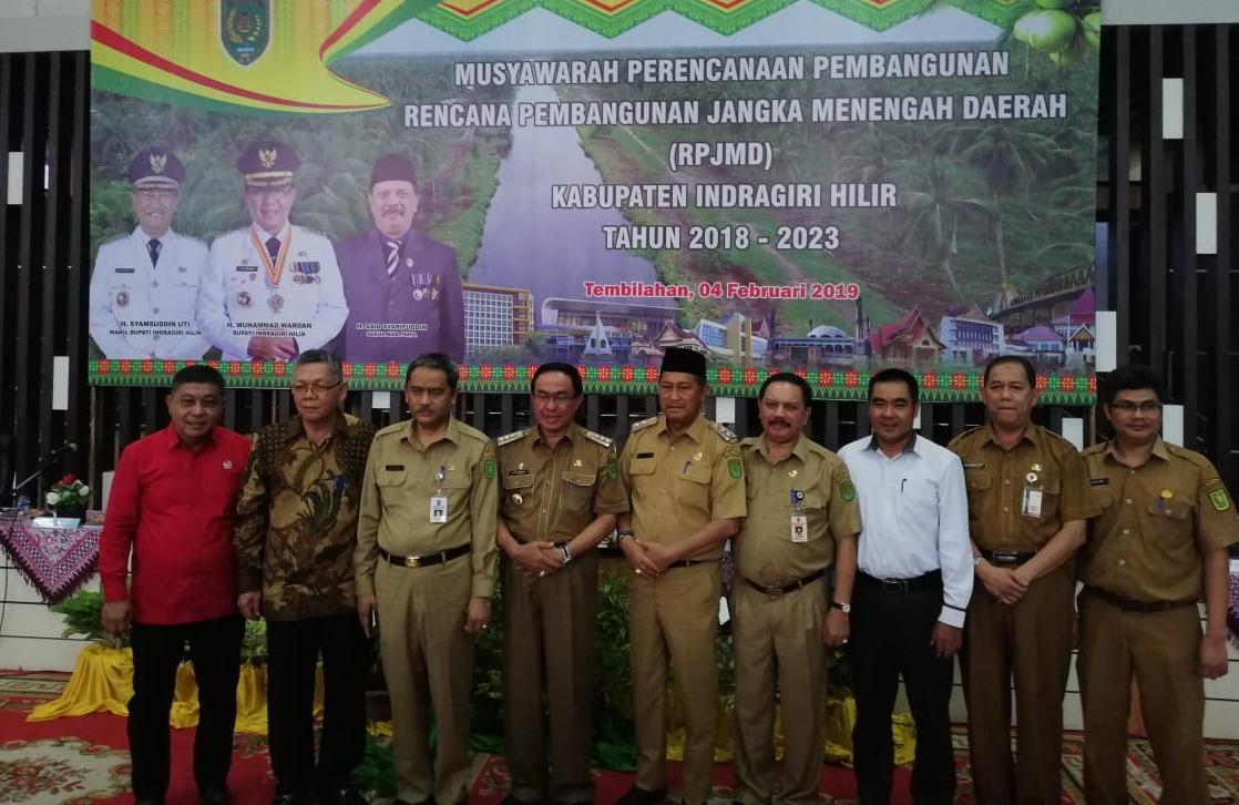 Musrenbang RPJMD Inhil 2018-2023, Bupati Tekankan Progam Peningkatan Ekonomi Dan Kualitas Infrastruktur