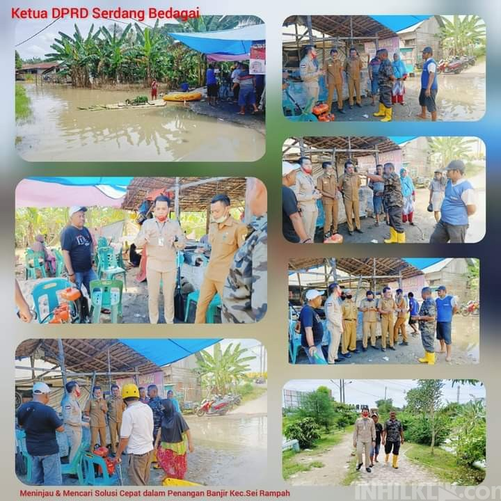 Tinjau Banjir, Ketua DPRD Sergai: Perlu Penanganan Cepat dengan Peran Kita Bersama