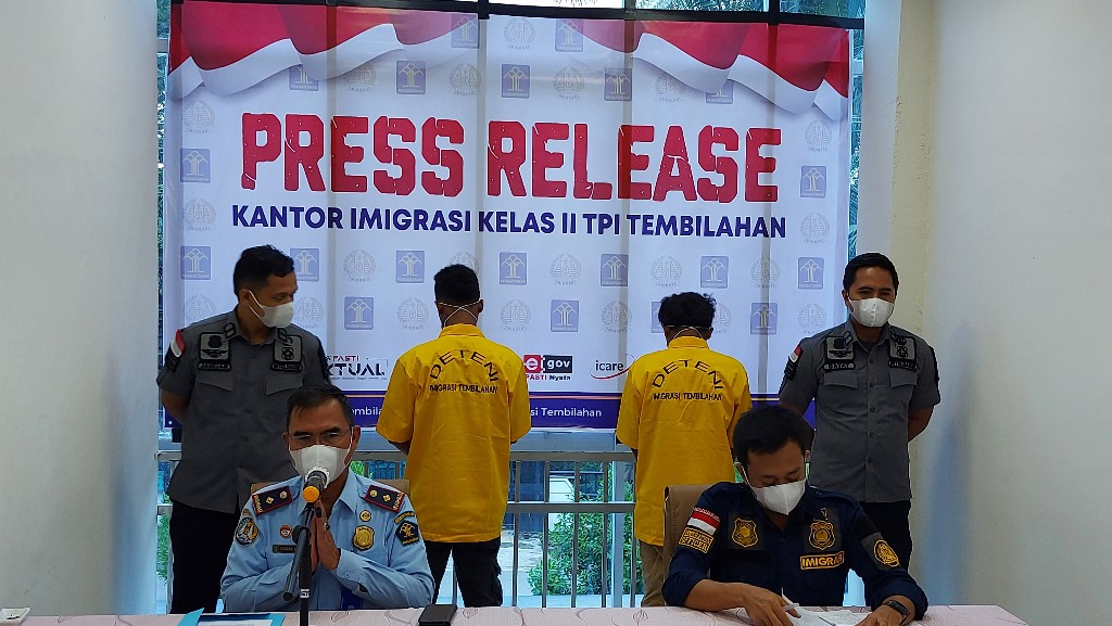 Imigrasi Tembilahan Amankan Dua WNA Timor Leste