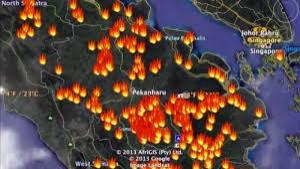 Update Hotspot di Riau Sore Ini: 105 Titik Tersebar di 10 Daerah