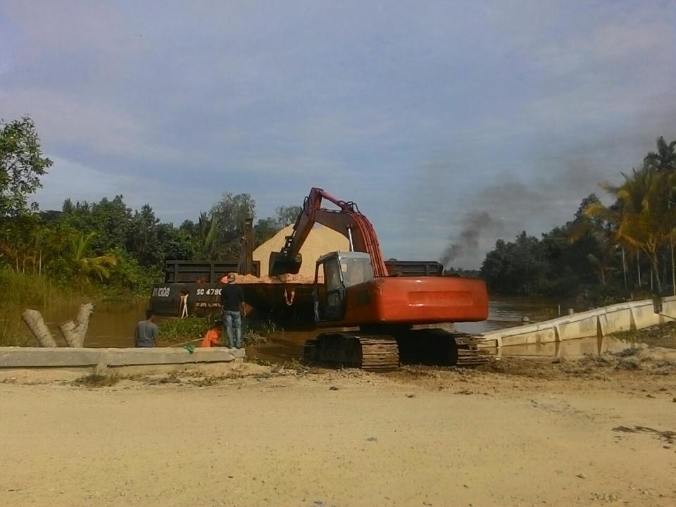 Pengerjaan Jalan Kotabaru-Pulau Kijang Dilanjutkan