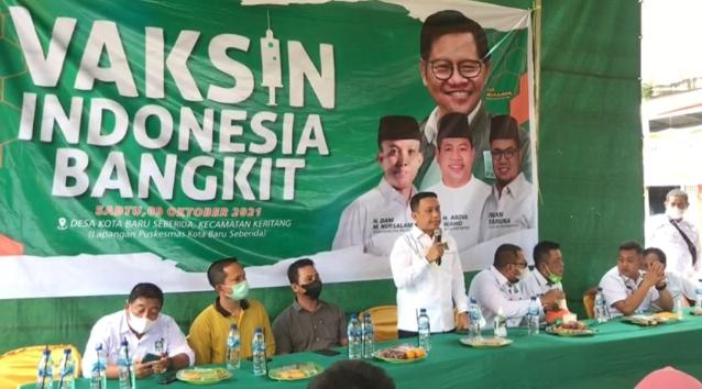 PKB Inhil Gelar Vaksinasi Indonesia Bangkit di Kotabaru