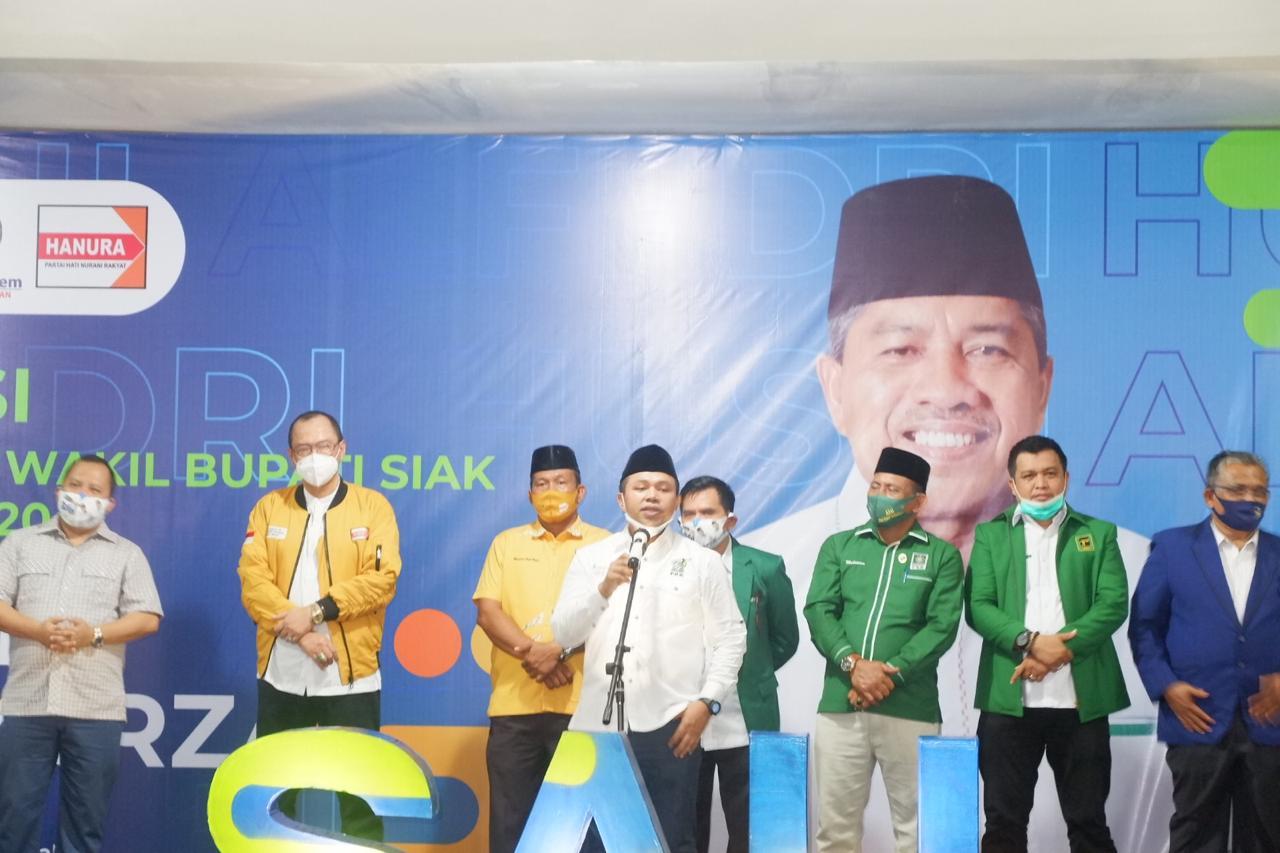 Hadiri Deklarasi Pilkada siak, Ketua PKB Riau Sebut Pasangan Alfedri-Husni Calon Pemimpin Visioner