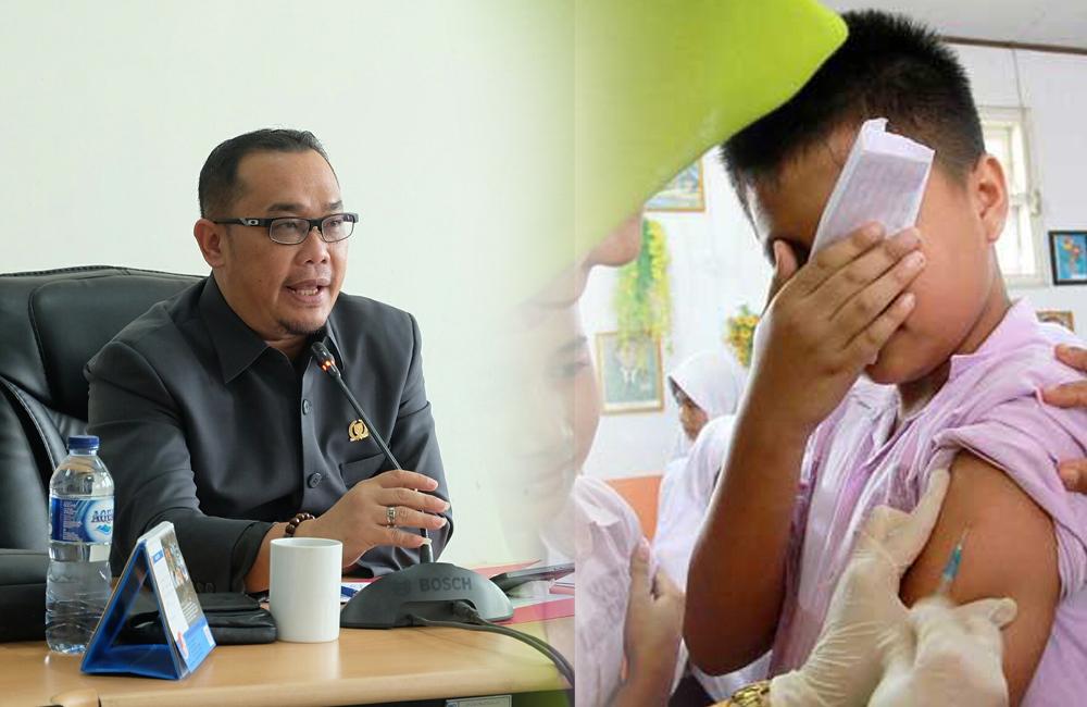 Imunisasi MR di Inhil, untuk Anak Non Muslim Lanjut, yang Muslim Ditunda
