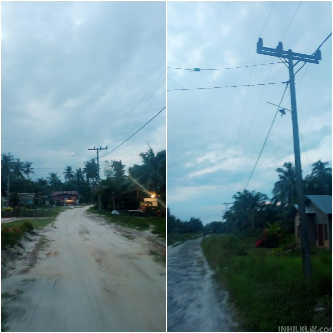 Jalan Dusun VII Bogak Besar - Dusun II Pematangkuala Gelap Gulita, Masyarakat Sebut Rawan Aksi Kejahatan dan Laka