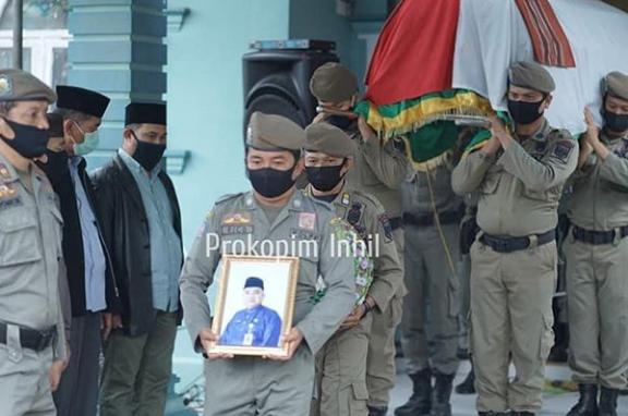 Bupati HM Wardan Pimpin Upacara Pelepasan Almarhum Ahmad Ramani