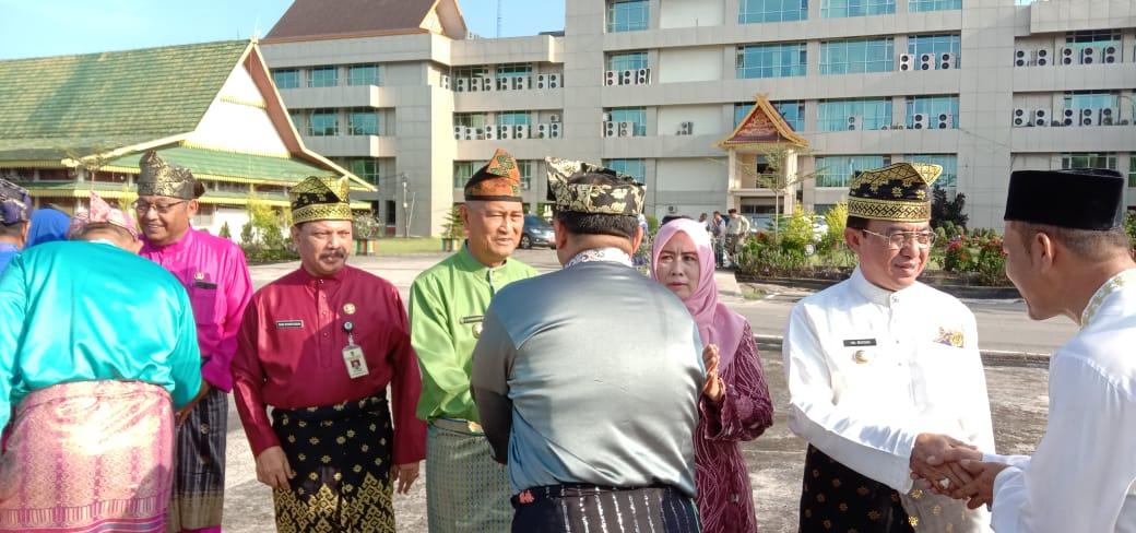Bupati Pimpin Apel Gabungan ASN Pemkab Inhil Pasca Cuti Bersama Lebaran