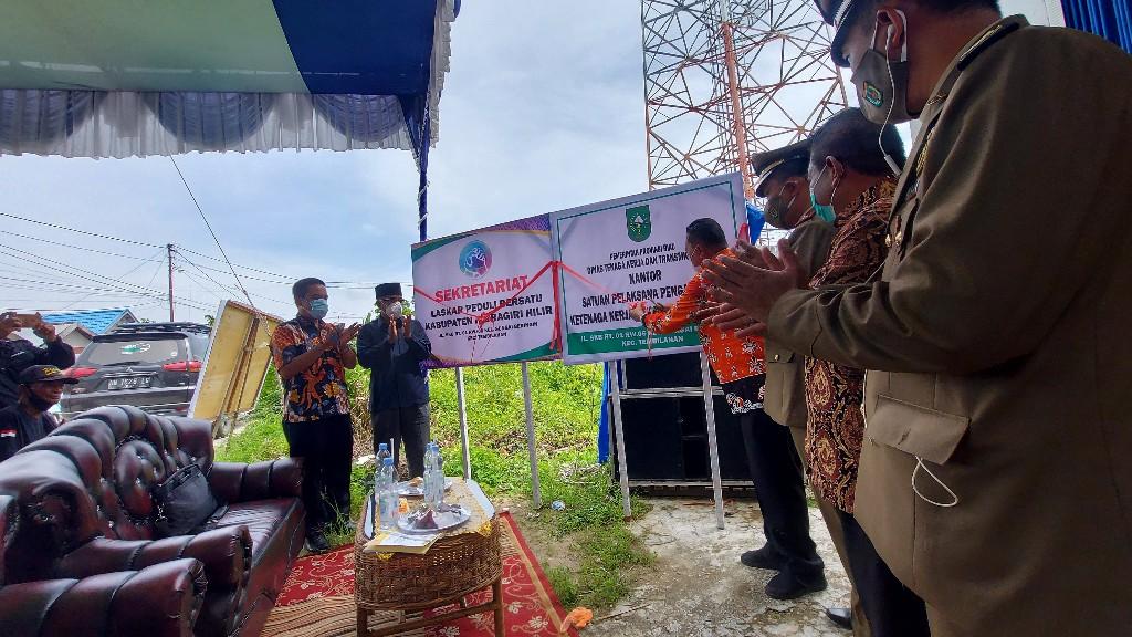 Hari K3 Nasional 2021, Kantor Satuan Pelaksana Pengawasan Ketenagakerjaan Kabupaten Inhil Diresmikan